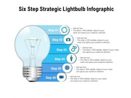 Six Step Strategic Lightbulb Infographic