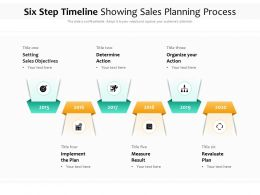 Six Step Timeline Showing Sales Planning Process