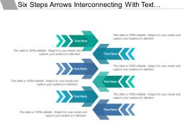 Six Steps Arrows Interconnecting With Text Holders