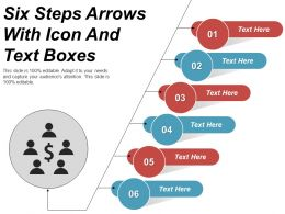Six Steps Arrows With Icon And Text Boxes
