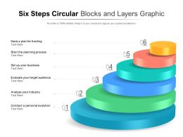 Six Steps Blocks And Layers Graphic