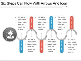 Six Steps Call Flow With Arrows And Icon