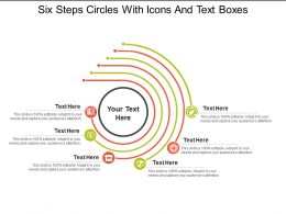Six Steps Circles With Icons And Text Boxes