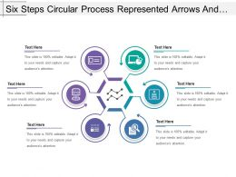 Six Steps Circular Process Represented Arrows And Text Boxes