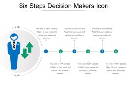 Six Steps Decision Makers Icon