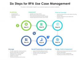 Six Steps For RPA Use Case Management