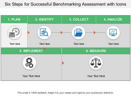Six Steps For Successful Benchmarking Assessment With Icons