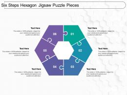 Six Steps Hexagon Jigsaw Puzzle Pieces