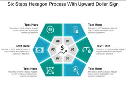 Six Steps Hexagon Process With Upward Dollar Sign