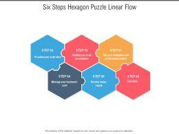 Six Steps Hexagon Puzzle Linear Flow