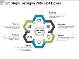 Six Steps Hexagon With Text Boxes