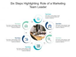 Six Steps Highlighting Role Of A Marketing Team Leader Infographic Template