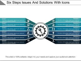 Six Steps Issues And Solutions With Icons