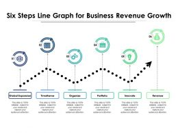 Six Steps Line Graph For Business Revenue Growth