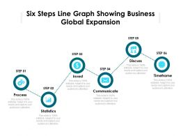 Six Steps Line Graph Showing Business Global Expansion