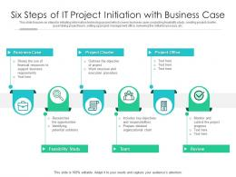 Six Steps Of IT Project Initiation With Business Case