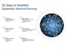 Six Steps Of Simplified Systematic Network Planning