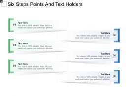 Six Steps Points And Text Holders