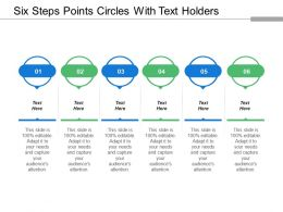 Six Steps Points Circles With Text Holders