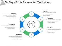 Six Steps Points Represented Text Holders