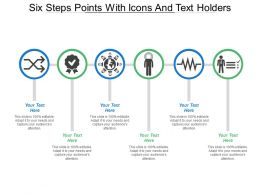 Six Steps Points With Icons And Text Holders