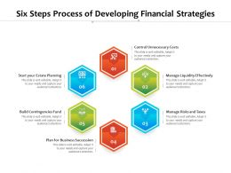 Six Steps Process Of Developing Financial Strategies