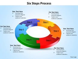 Six Steps Process powerpoint Slides templates