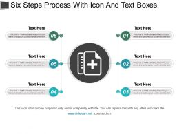 Six Steps Process With Icon And Text Boxes