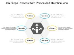 Six Steps Process With Person And Direction Icon