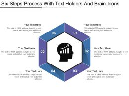 Six Steps Process With Text Holders And Brain Icons