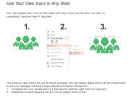 Six Steps Process With Text Holders And Icons