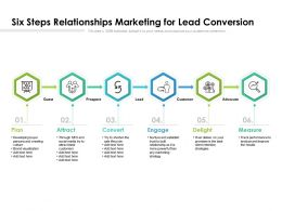 Six Steps Relationships Marketing For Lead Conversion