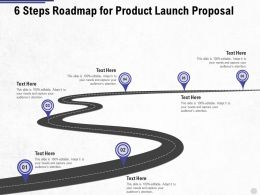 Six Steps Roadmap For Product Launch Proposal Ppt Powerpoint Presentation Summary Outfit