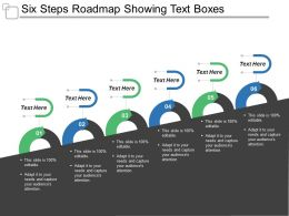 Six Steps Roadmap Showing Text Boxes