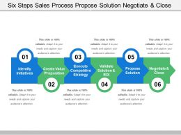 Six Steps Sales Process Propose Solution Negotiate And Close
