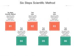 Six Steps Scientific Method Ppt Powerpoint Presentation File Guide Cpb