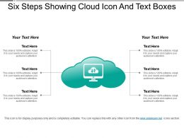Six Steps Showing Cloud Icon And Text Boxes