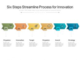 Six Steps Streamline Process For Innovation