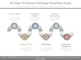 Six Steps To Execute A Strategy Powerpoint Guide