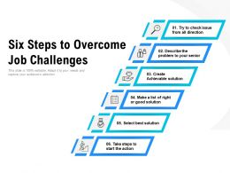 Six Steps To Overcome Job Challenges