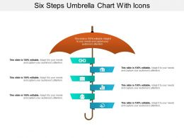 Six Steps Umbrella Chart With Icons