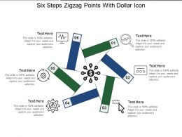 Six Steps Zigzag Points With Dollar Icon