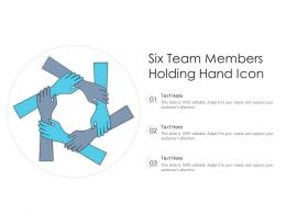 Six Team Members Holding Hand Icon