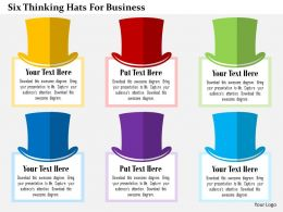 Six Thinking Hats For Business Flat Powerpoint Design
