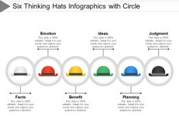 Six Thinking Hats Info Graphics With Circle