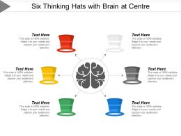 Six Thinking Hats With Brain At Centre