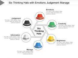 Six Thinking Hats With Emotions Judgement Manage