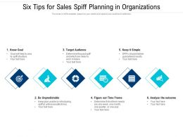Six Tips For Sales Spiff Planning In Organizations