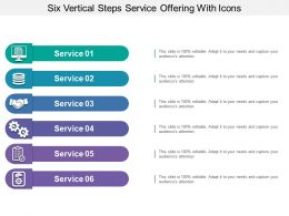 Six Vertical Steps Service Offering With Icons