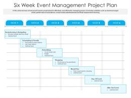 Six Week Event Management Project Plan